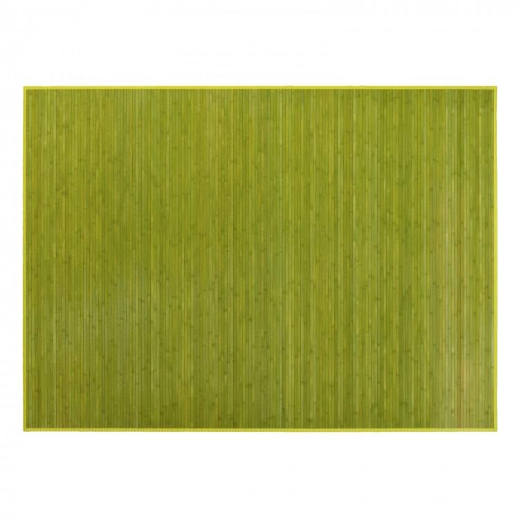 Alfombra verde de Bambú Natural práctica. Hogar y Más.