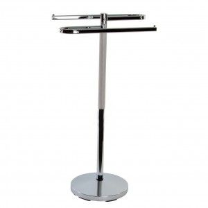 Towel rack stand Modern Chrome and practical. Home and More