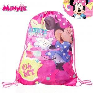 Mochila-saco para niña de Minnie. Modelo Disney. Hogar y más