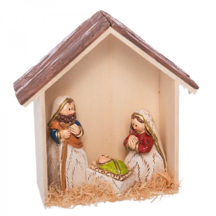 Belén Navideño simpático de resina colores alegres. Hogar y Más