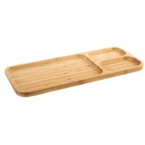 Tray Natural Bamboo Eco and Practice with Coasters. HogaryMás.