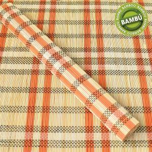 Mantel Individual Bambú Natural Diseño Étnico en 4 Colores 6 Unidades