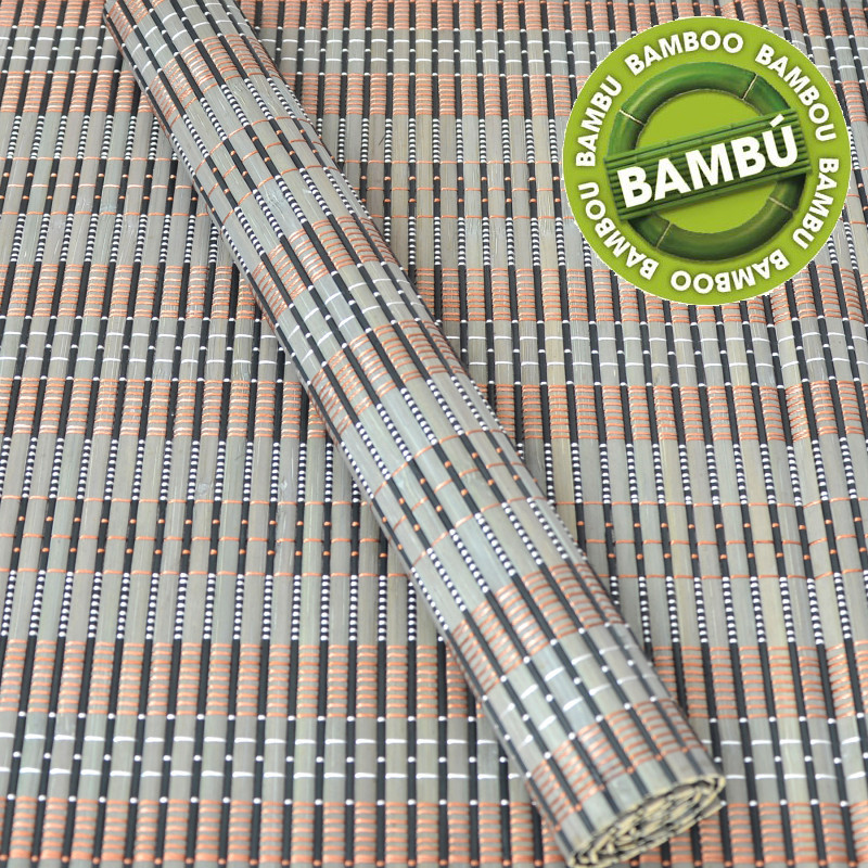 Placemat Bamboo Natural Ethnic Design in 4 Colours (6 Units