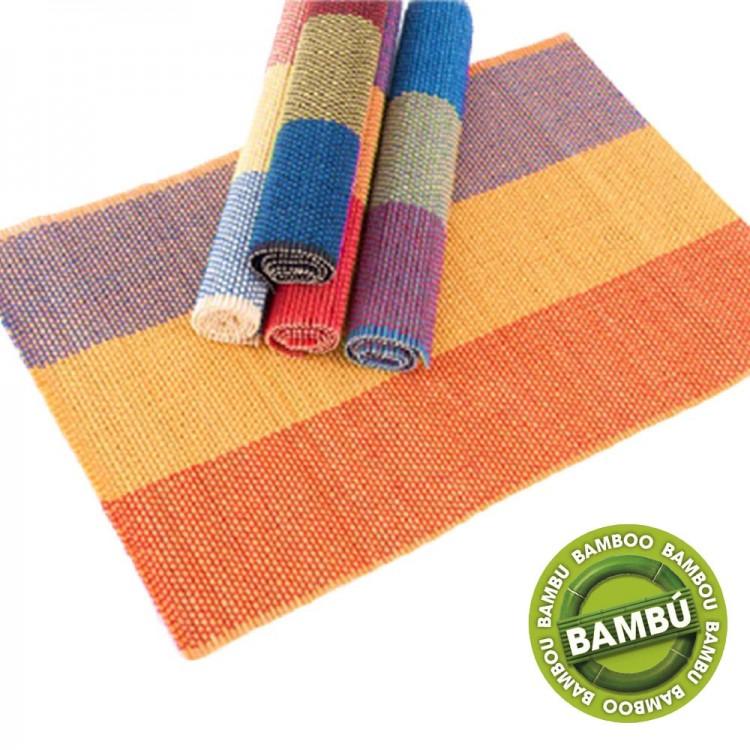 Mantel individual de bambú e hilo (45x30 cm)