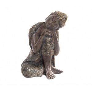 Figura de Buda meditando Feng Shui de polirresina para ahuyentar las malas energías - Hogar y Más