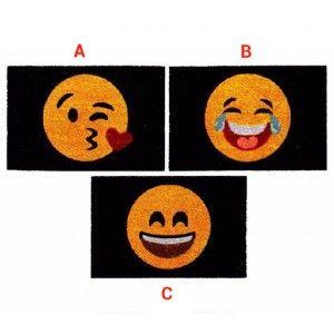 Felpudo de Fibra de Coco alegre diseño Emoji en tres modelos - Hogar y Más