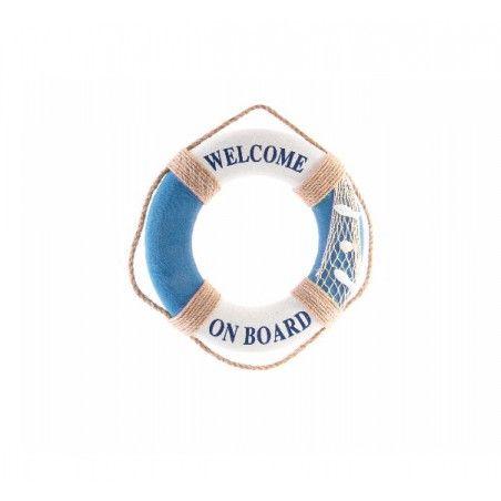 Adorno de pared de espuma colgante diseño Salvavidas Naútico Welcome on Board - Hogar y Más