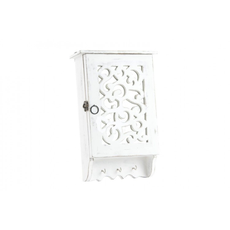 Guardallaves de madera blanco Práctico para la entrada Fantasy - Hogar y Más