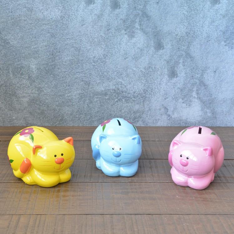 Hucha infantil de cerámica - Modelo gato, Hogar y Mas