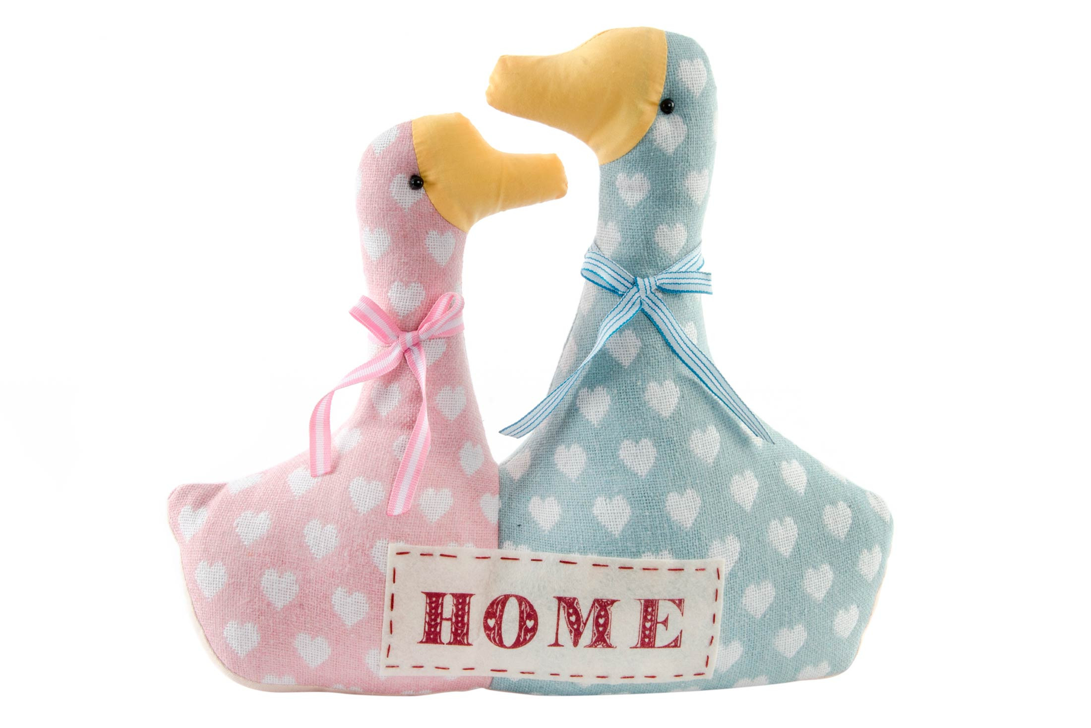 Home and more - Sujetapuerta of ducks in love. Model Home with hearts.