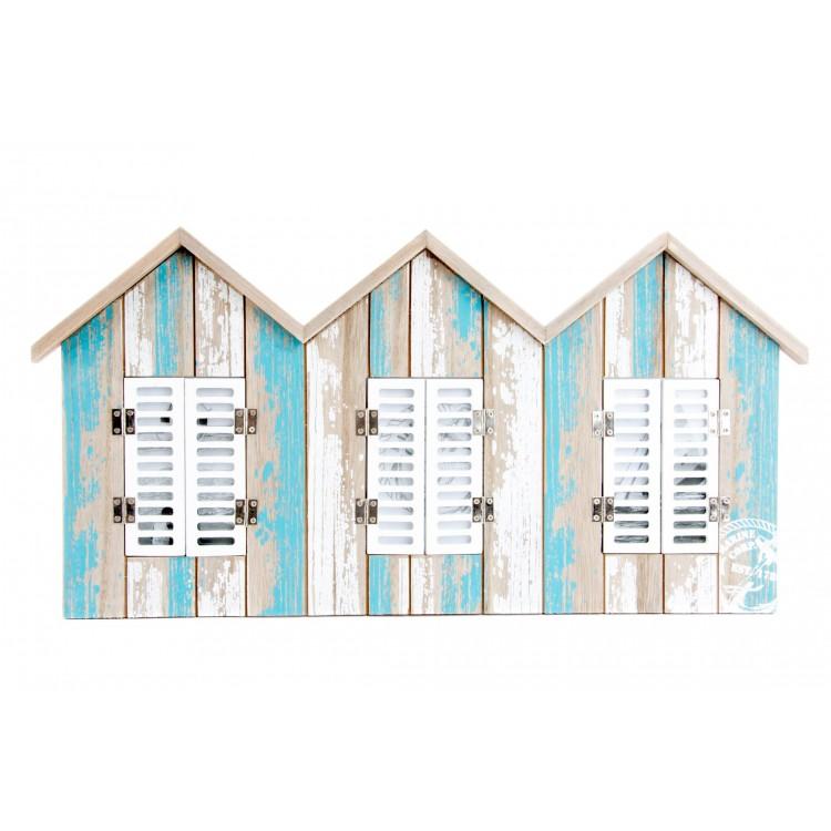 Hogar y más- Marco multifoto en forma de casita de madera.