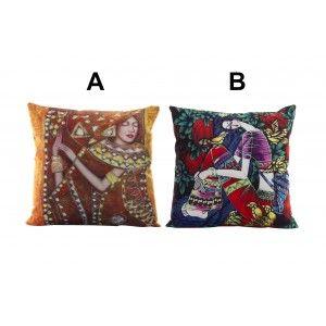 Hogar y Más - Cojín cómodo y decorativo con diseño Étnico de colores vivos