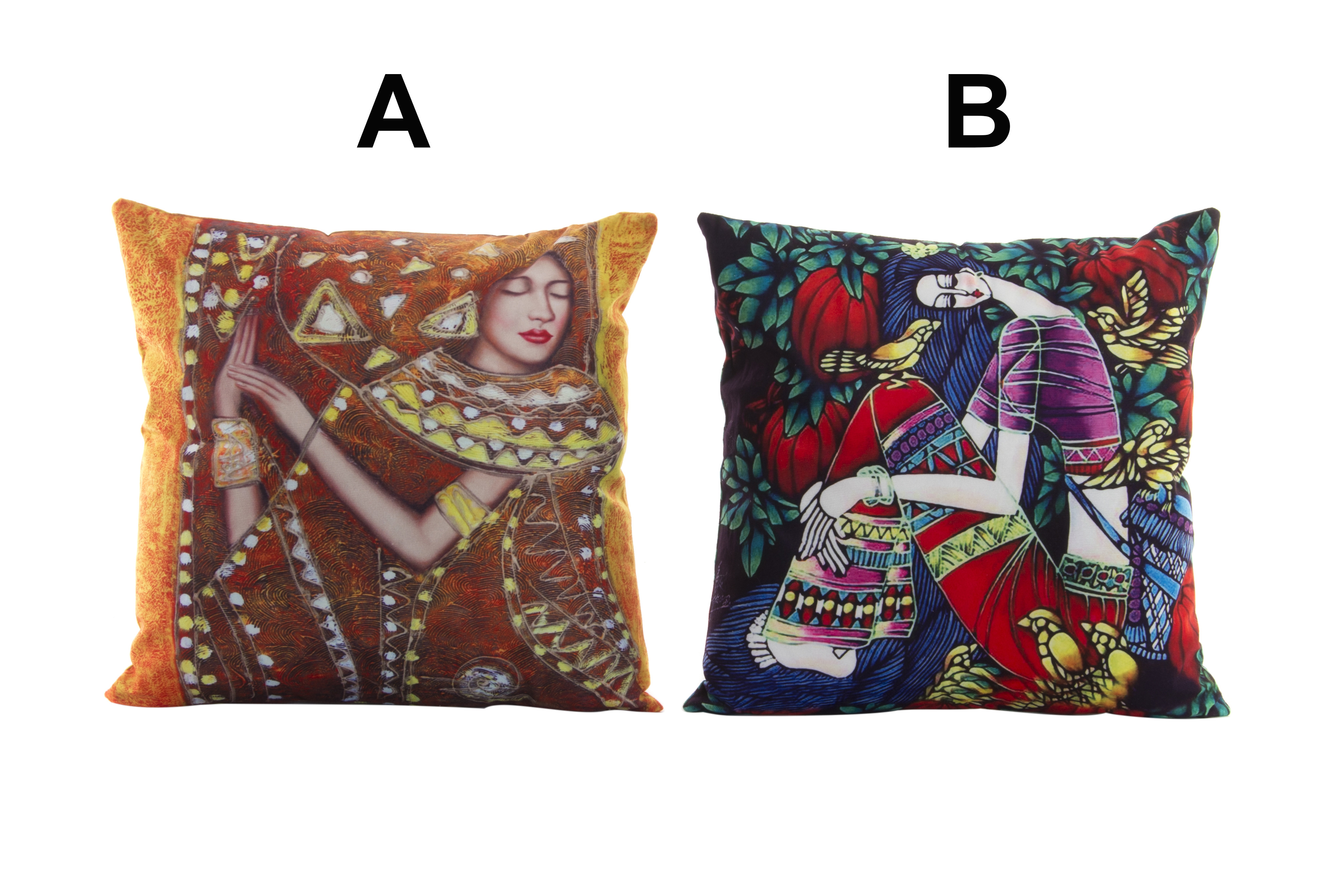 Home and More - comfortable seat Cushion and decorative Ethnic design of vivid colors