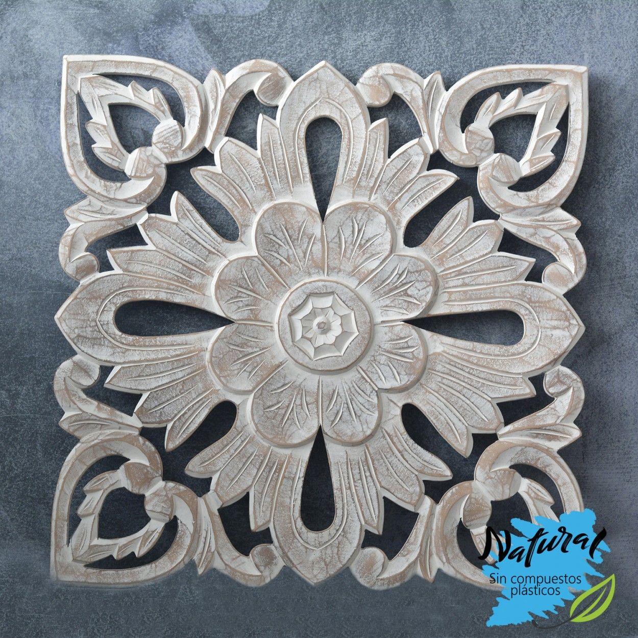Comprar online decoraci n de pared de madera tallada for Diseno hogar online
