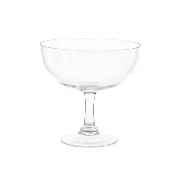 Hogar y Más - Jarrón de copa ancho decorativo de cristal transparente para salón