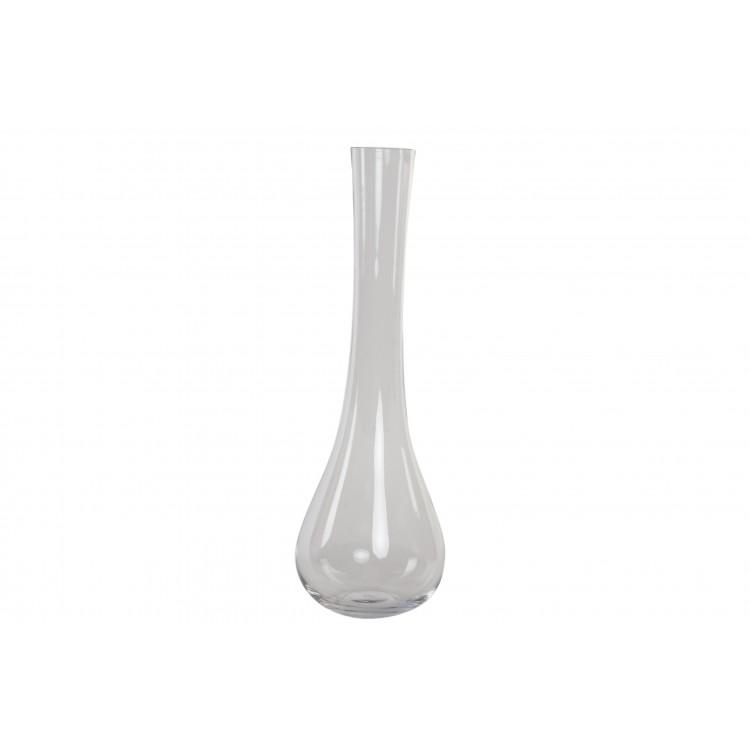 Hogar y Más - Jarrón Florero alto de cristal transparente