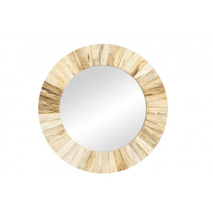 Hogar y más - Espejo de madera natural. Diseño de estilo nórdico.