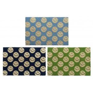 Home and more - Doormat of coconut fiber with emojis. Design fun.