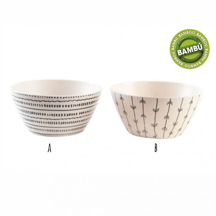 Hogar y más - Bol de bambú reciclado. Ideal para tu cocina. Diseño indie.
