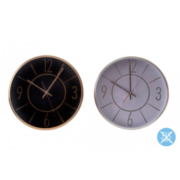 Hogar y Más - Reloj de pared Clásico de aluminio en 2 colores