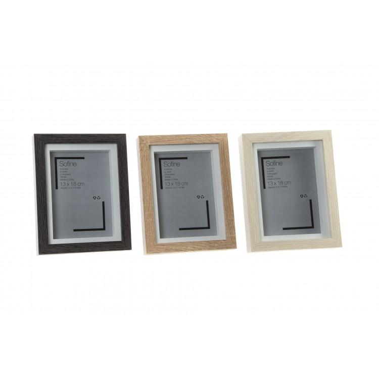 Hogar y Más - Marco de foto individual de sobremesa fabricado en madera