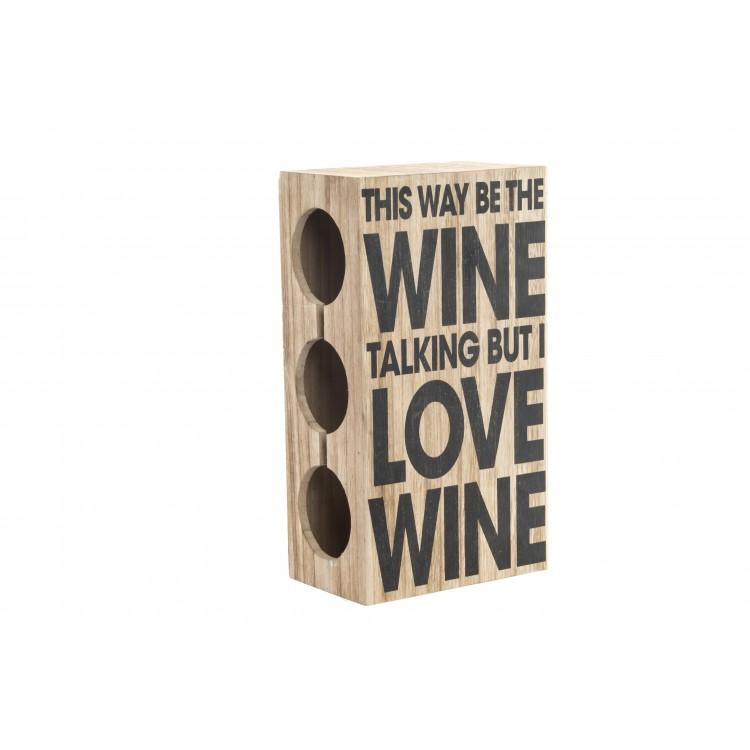 Hogar y más - Botellero de Madera para vino. Diseño en Madera. Edición Love.