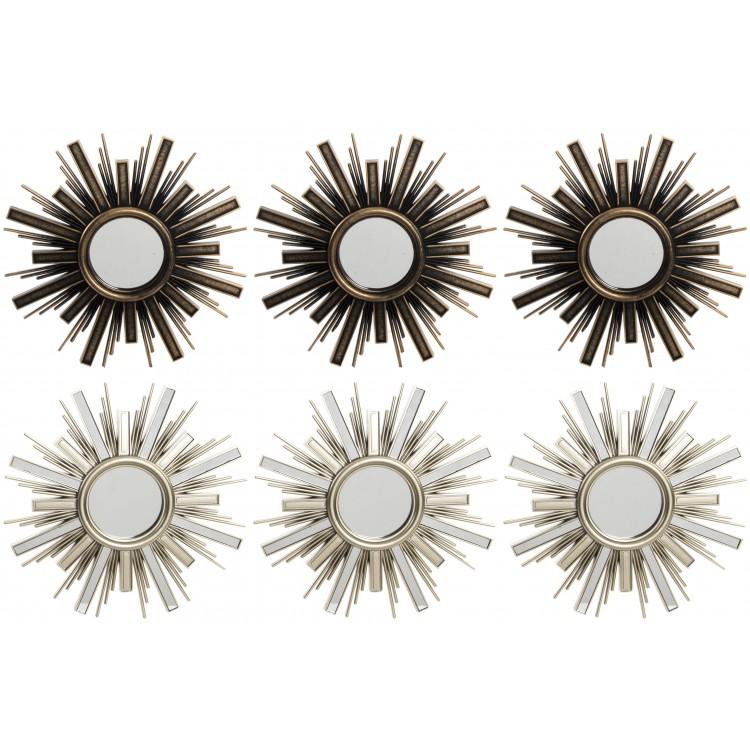 Hogar y más - Espejos de resina decorativos para la pared Set de 3