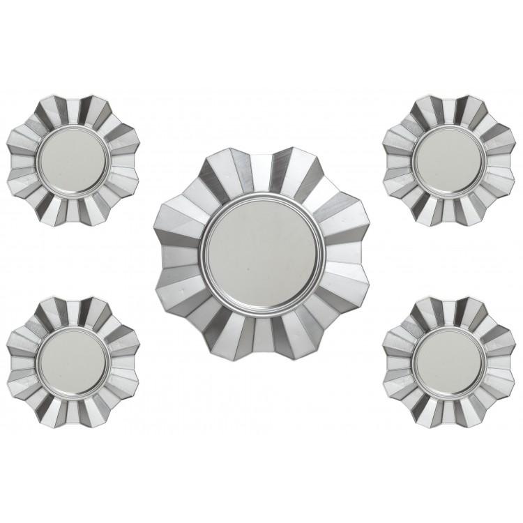 Espejo de madera tallada en forma rectangular con dise o for Espejo rectangular plateado