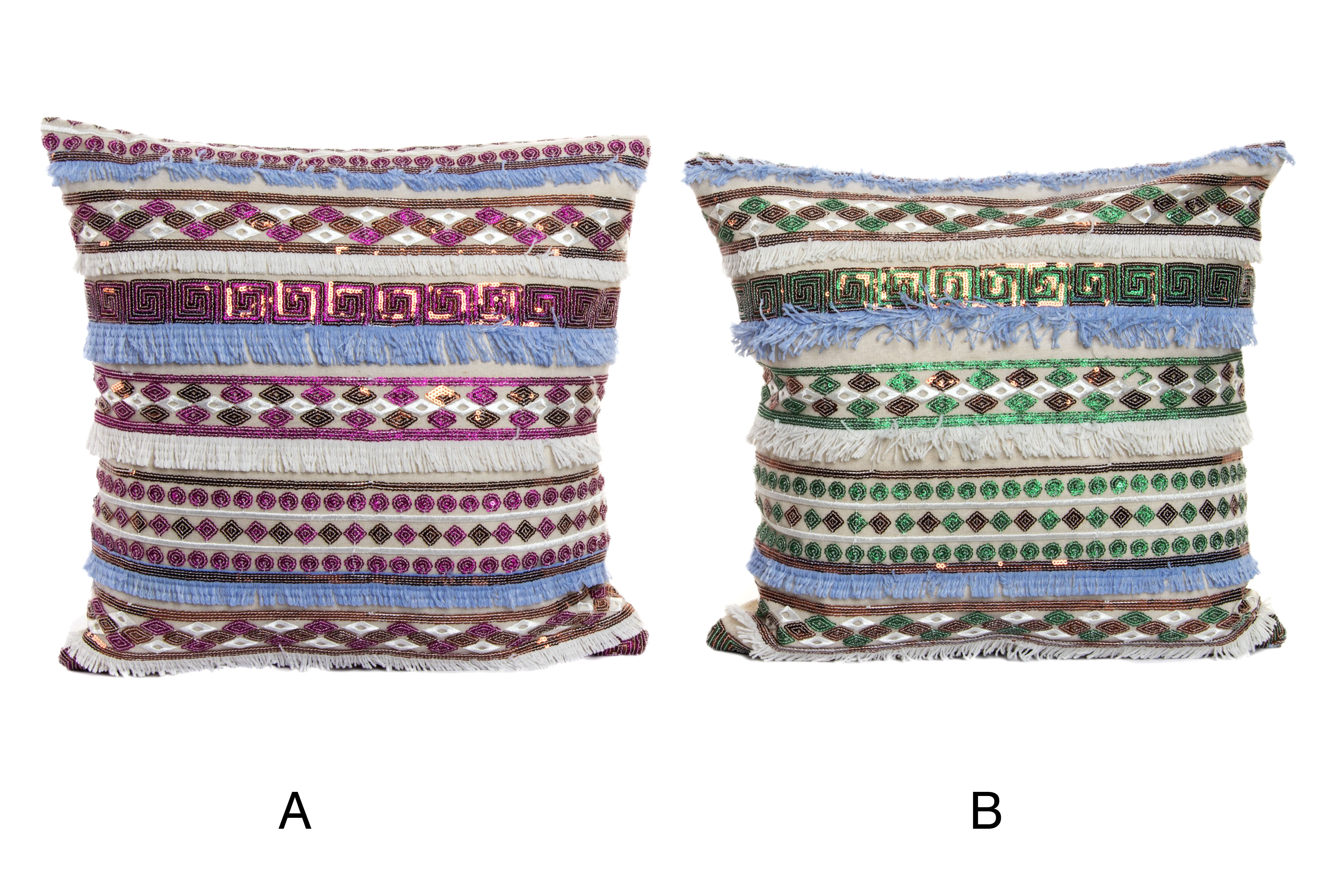 Home and more - Cushion style Boho polyester. 2 models
