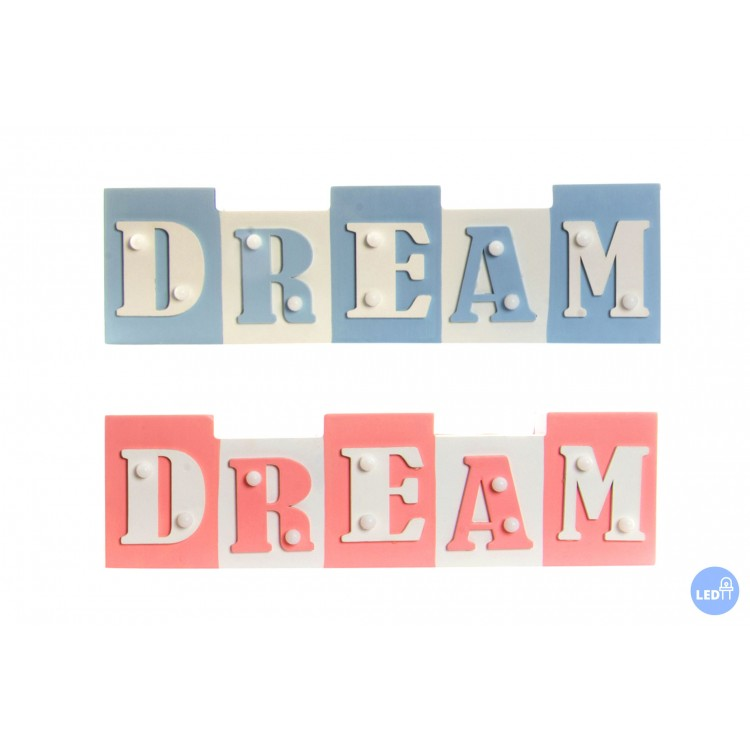Hogar y más - Letras con luz led para decorar la pared. Dream 2 colores
