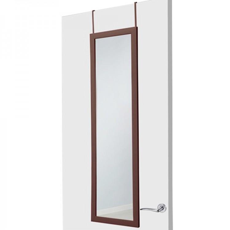 Hogar y  Mas - Espejo para puerta chocolate sin agujeros
