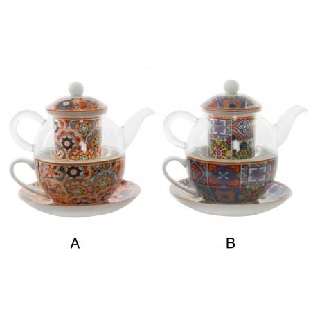Hogar y más - Tetera y Taza con estilo étnico. 2 modelos
