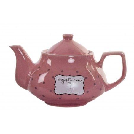 Hogar y más - Tetera de Gres. Agusto con mi té. 4 colores