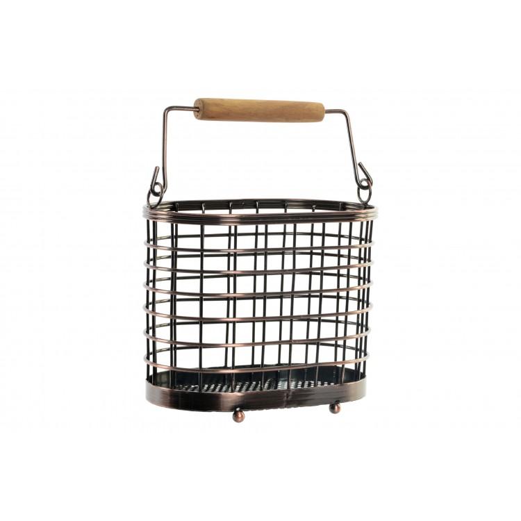 Hogar y más - Cubertero de madera y metal
