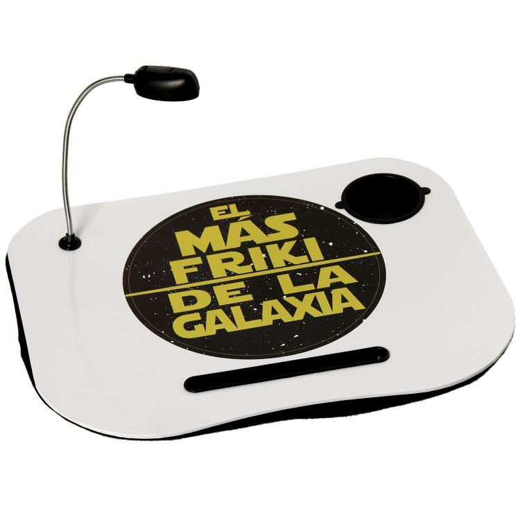 Hogar y más -Bandeja de portátil práctica y cómoda acolchada con luz Led diseño Star Wars