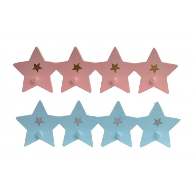 Hogar y más - Perchero de Estrellas de Madera