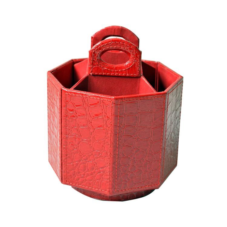 Hogar y más - Portamandos giratorio de color rojo. Estilo moderno y colorido.