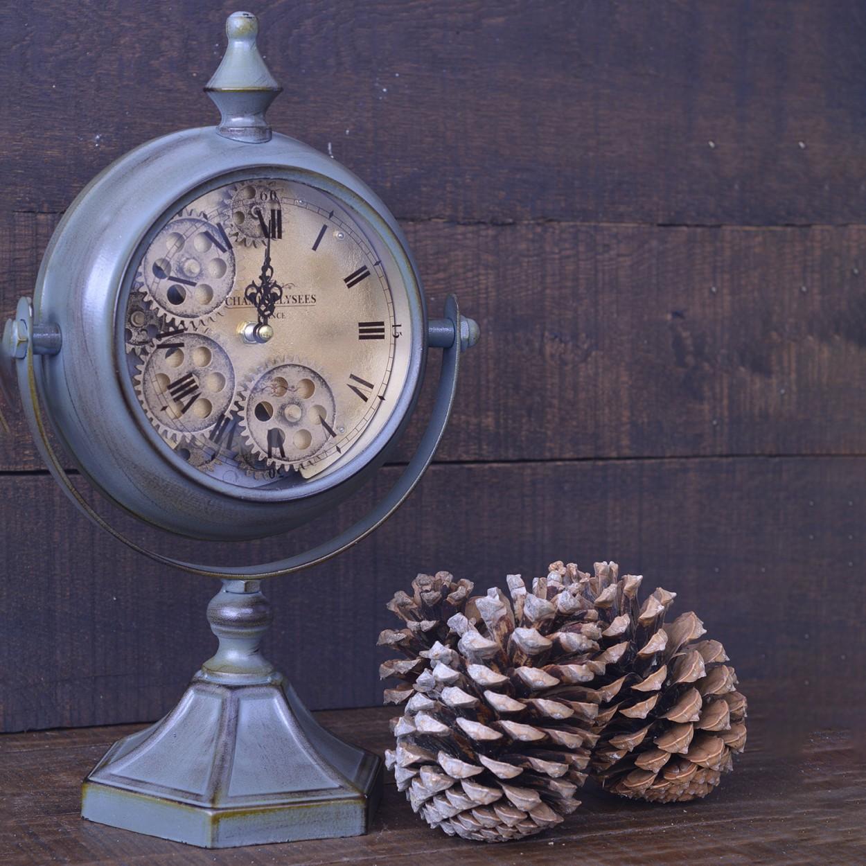 Comprar reloj estilo industrial verde con dorado hogar y m s for Reloj pared estilo industrial