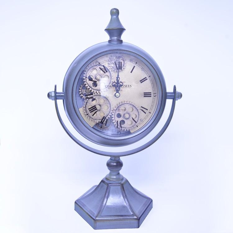 Hogar y más - Reloj de Pie Estilo Industrial Metal Verde. Champs Elysees.