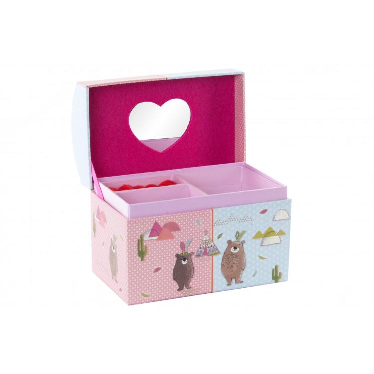 Hogar y más - Joyero Infantil de Cartón con Espejo