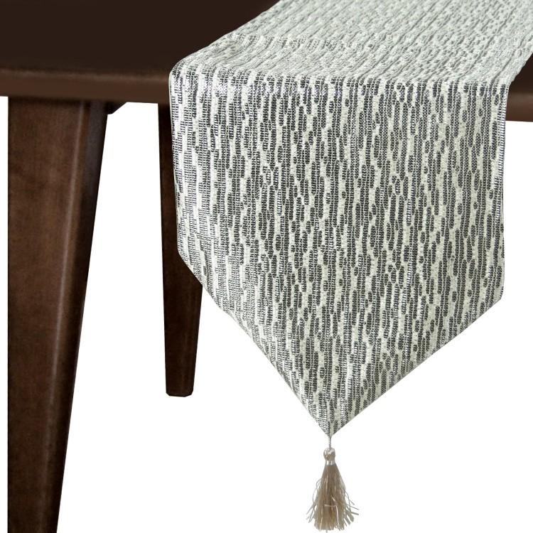 Hogar y Más - Camino de mesa elegante con borlas Arabia