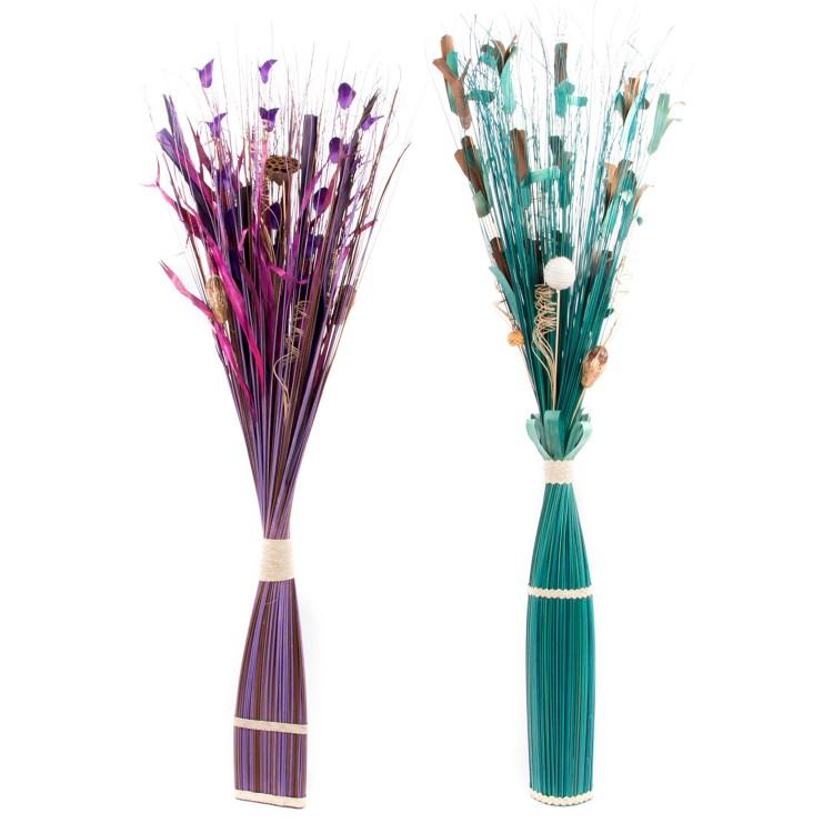 Hogar y más - Ramo de flor seca para decoración en dos colores. Diseño natural.