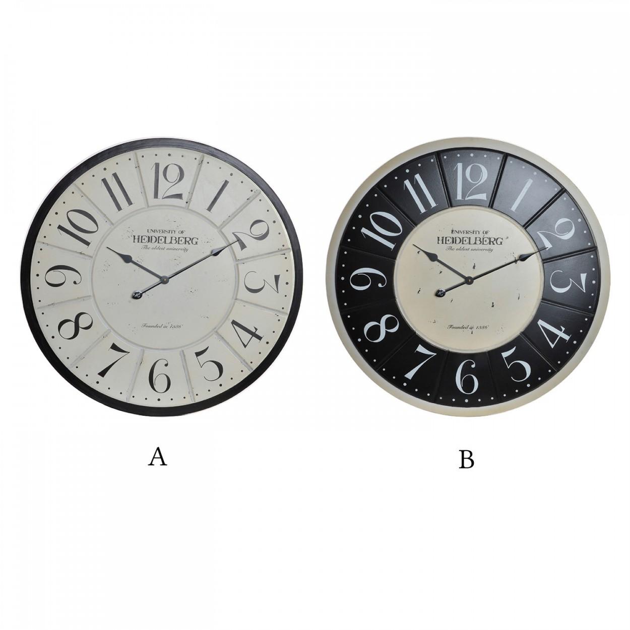 Comprar reloj de madera natural vintage industrial hogar - Reloj pared diseno ...