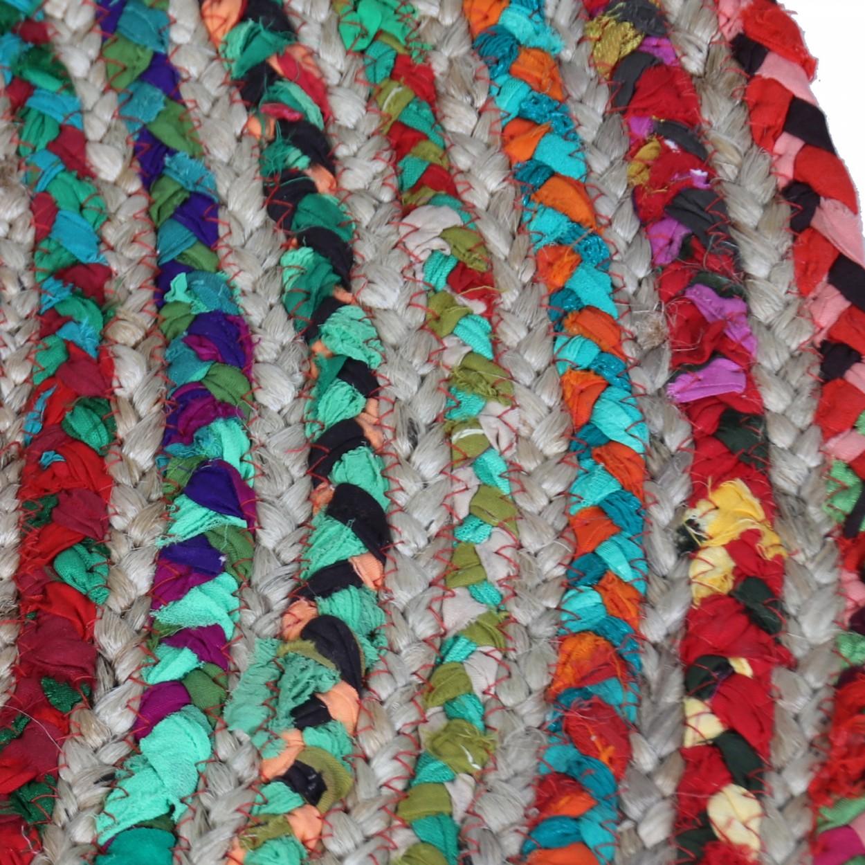 Comprar alfombra circular de dise o tnico multicolor Mas alfombrar