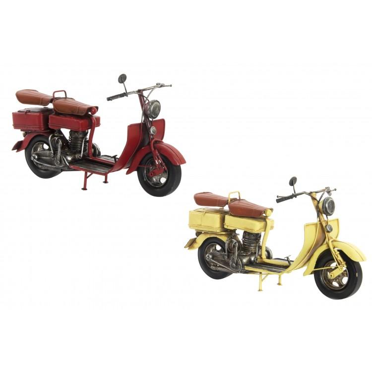 Hogar y más - Moto de Metal para decoración. Amarilla o Roja