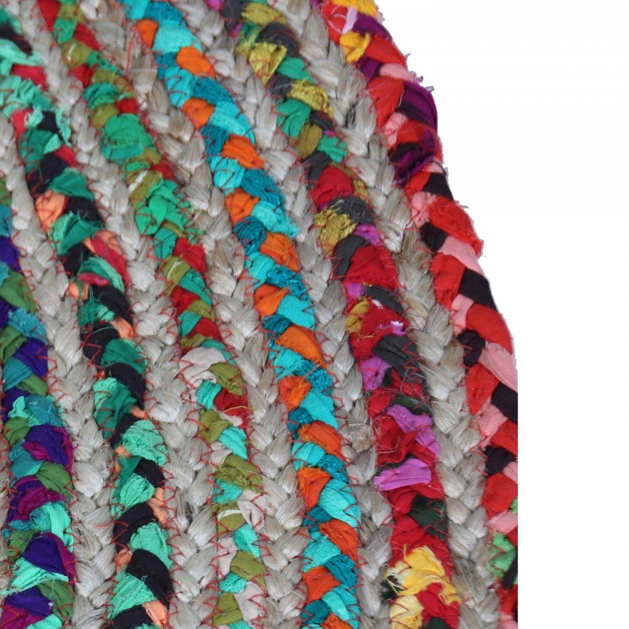 Compra alfombra de mimbre colorida con dise o tnico Mas alfombrar