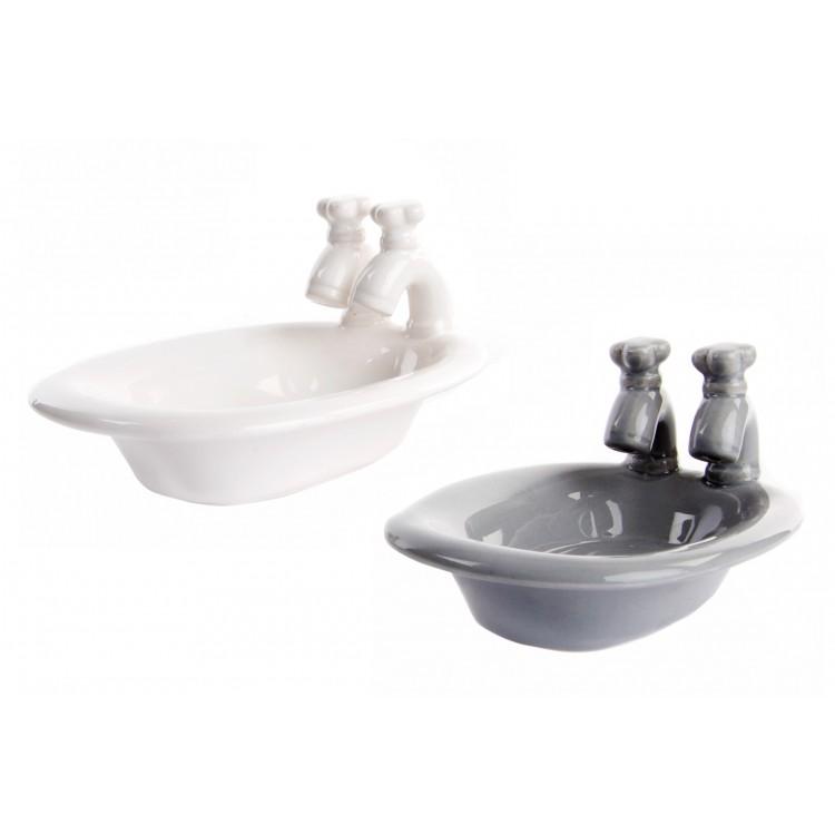 Hogar y más - Jabonera de Cerámica con forma de bañera