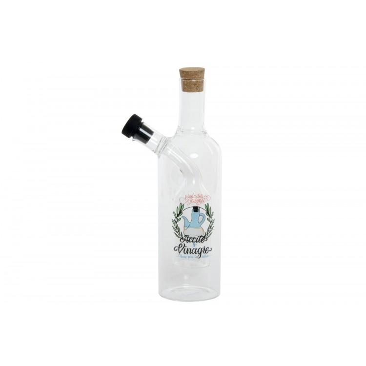 Hogar y Más - Aceitera vinagrera de cristal de diseño original y práctico con Dos en Uno