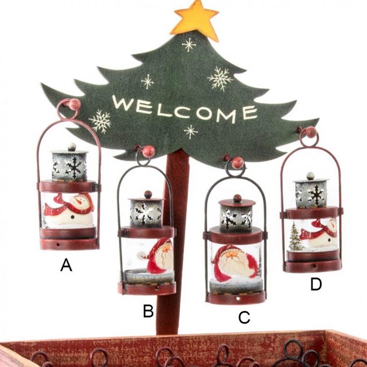 Farola de metal con motivos navideños - Diseño encantador. - Hogar y más