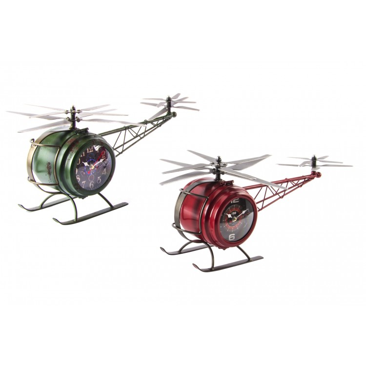 Hogar y más  - Reloj Helicóptero de Metal. 2 colores